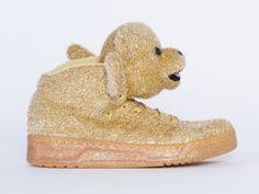 Adidas Originals X Jeremy Scott Bear Womens in Gold at Solestruck.com
