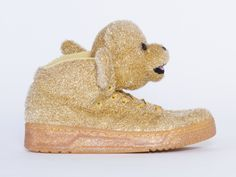 Adidas Originals X Jeremy Scott Bear Womens in Gold at Solestruck.com