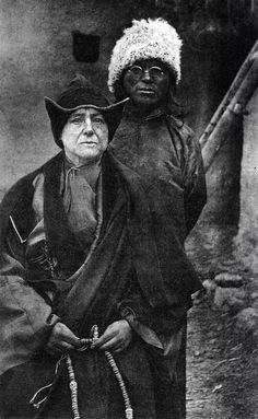 Alexandra David Neel, a woman who traveled in 1924 and later on, in then forbidden Tibet, alone.