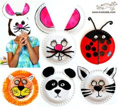 MASCARAS CON PLATOS DESCARTABLES