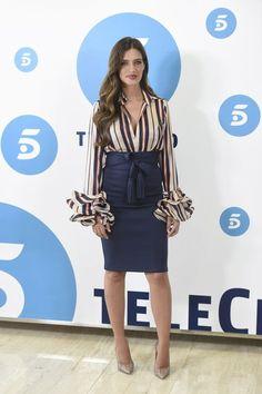 Sara Carbonero se pone flamenca en la presentación de 'Quiero ser', su nuevo programa de moda