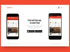 Food Delivery Landing Page Animation by Eleken. #Design Popular #Dribbble #shots
