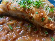 This recipe is a fusion of flavours, Norwegian Skrei Cod in a Spanish sauce, but I think it works well!