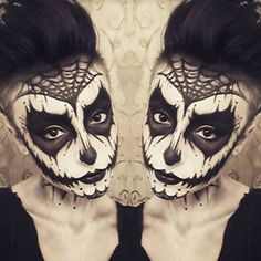Dark Sugar Skull | Community Post: 32 Jaw-Dropping Halloween Makeup Ideas