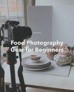 Discover how to Food Photography Gear for Beginners in 5 steps Food Photography Lighting, Photography Set Up, Photography Tips Iphone, Food Photography Props, Photography Basics, Photography Lessons, Photos, Vinyl Board, Fun Diy