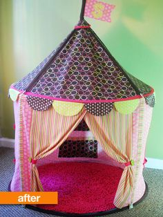 Ikea Circus Tent Hack is sooo cute! Now that I got a new sewing machine, I would like to make this a project! <3