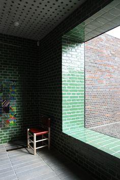 Johan Celsing Arkitektkontor: Årsta Church, The New Crematorium at the Woodland Cemetery Colour Architecture, Church Architecture, Contemporary Architecture, Architecture Details, Interior Architecture, Interior Design, Brick Cladding, Brickwork, Brick And Stone