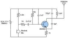Most simple fm transmitter circuit diagram gallery of electronic circuit diagram easy fm transmitter ccuart Images