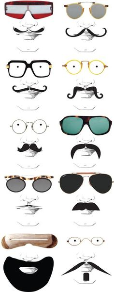Which glasses match which tash? We wish it was Movember again already!