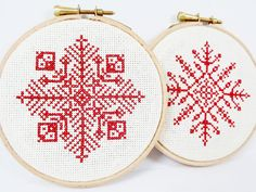 2 pc Set  Red #Snowflake  #Christmas  Complete by LylaAccessories, $30.00