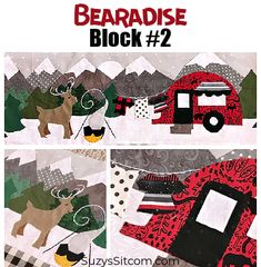 Join the Bearadise Quilt Pattern Sew Along! Pattern Blocks, Quilt Patterns, Sewing Patterns, Craft Projects For Adults, Diy Craft Projects, Love Bear, Simple Embroidery, Forest Friends, Love Sewing