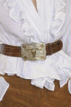 interesting use of old belt !!!  Ralph Lauren