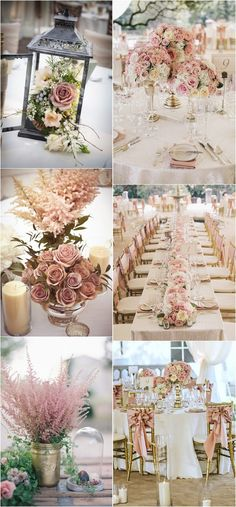 dusty rose wedding color ideas for 2018 #dustyrose #weddingcolors #weddingideas #weddingdecor