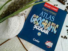 Atlas geografic școlar Atlas, Student, Cover, Books, Geography, Libros, Book, Book Illustrations, Libri