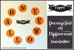 Guirnalda de #Halloween imprimible gratis www.manualidadesytendencias.com