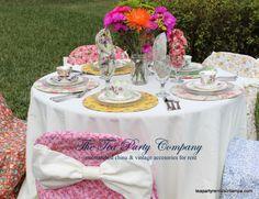 Ready, tea, go!!!!  Beautiful table decor, perfect for a spring garden tea party!