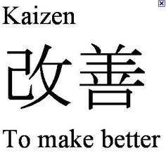 kaizen symbol - Google Search  my new life philosophy.  :)