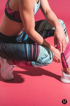 Get the lululemon Speed wunder tight in limited edition Electrobeam print.