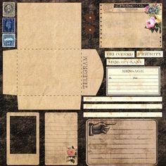 "Photo from album ""Design sheet Dear John"" on Yandex. Vintage Scrapbook, Scrapbook Paper, Scrapbook Templates, Vintage Ephemera, Vintage Paper, Journal Pages, Junk Journal, Bullet Journal, Journal Covers"