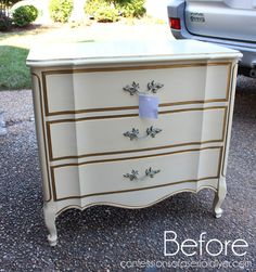 Flopped Night Table Redo (Confessions of a Serial Do-it-Yourselfer) Coffee Table Makeover, Desk Makeover, Furniture Makeover, Refurbished Furniture, Paint Furniture, Upcycled Furniture, Painted Kitchen Tables, White Washed Furniture, Night Table