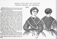 In the Swan's Shadow: Godey's sontag knitting instructions, Civil War Era Fashion Plate Shawl Patterns, Knitting Patterns Free, Free Knitting, Crochet Patterns, Civil War Fashion, Civil War Quilts, Book And Magazine, Knitted Shawls, Lace Shawls