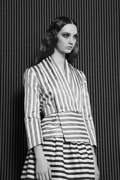 Codie Young by Alice Rosati for Please Magazine #stripes