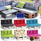 Cushions are sewn with durable, strong fabrics, filled with highly fluffy non-woven. 2 pcs big square cushions 50 x 50 cm. 2 pcs small square cushions 40 x 40 cm. with foam seat pad. Seat Foam Pad 120 x 80 x 10 cm thick. Garden Seat Cushions, Pallet Cushions, Upholstery Cushions, Pallet Sofa, Cushions On Sofa, Pallet Patio, Outdoor Sofa, Modern Outdoor Furniture, Palette Garden Furniture