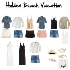 Holden Beach Vacation Packing List, created by shariyuputah on Polyvore