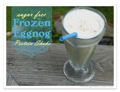 How about a frozen eggnog recipe?  A SUGAR FREE, protein packed, super fast to whiz together *scrump-diddli-icious* frozen breakfast treat is on tap this Trim Healthy Tuesday.