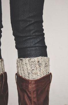 Crocheted Boot Cuff pattern.