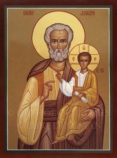 Ícone de São José e Cristo.