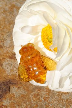 Handcarved Amber Bee by RileyDoRight on Etsy, $200.00