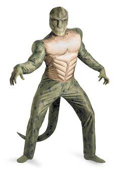 Lizard Movie Muscle Costume - Wildlife fancy dress - Bestival
