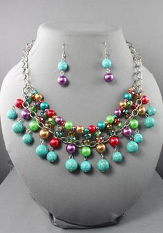 jewelry design with beads | Natural Stones, Pearl & Beads Necklace