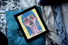 """HYDRATED Watercolor and drawing Print x 11 """" Claudia Chartier © * frames are not provided Vintage, Cover, Etsy, Watercolor Painting, Water Colors, Figurative, Artist, Drawing Drawing, Vintage Comics"""
