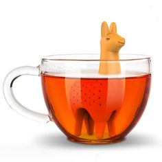 Meet our Como Tea Llama Tea Infuser! It's the groovy Peruvian infuser. It's an amazing gift for loose tea lovers with a sense of humor and love of llamas! Alpacas, Cafe Rico, Take My Money, Loose Leaf Tea, Tea Time, Tea Party, Best Gifts, Gag Gifts, Tea Cups