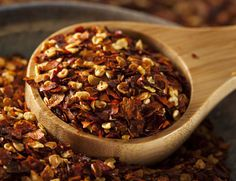 14. Red Pepper Flakes  Add red pepper flakes to your pantry. When eaten early in the day, red pepper lowers the amount of food you'll eat later.