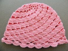 Crochet : Gorro en Conchitas Diagonales. Parte 1 de 2 - YouTube