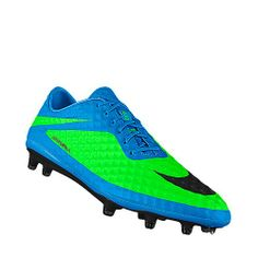You can't help but have a lethal strike with these turquoise and neon green Hypervenom Phantom iD Soccer Cleats.