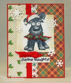 9 More Easy Homemade Christmas Cards with Step by Step Instructions – DIY Fan Stamped Christmas Cards, Homemade Christmas Cards, Xmas Cards, Holiday Cards, Cards Diy, Handmade Christmas, Crazy Bird, Crazy Dog, Crazy Cats