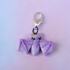 ~*Welcome to The Little Pocket*~  *Bat Charm *Charm is on Lobster Clasp, hang it virtually anywhere!  ღCrafted by me with polymer clay  **All items come in cute box or baggie, ready to gift.  READY TO SHIP  Thank you for visiting my shop, The Little Pocket! Your support is appreciated!