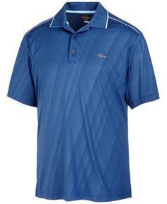 Greg Norman For Tasso Elba Men's Embossed Performance Sun Protection Golf Polo - White XXL