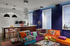 Софа из блоков фирмы Roche Bobois от дизайнера Hans Hopfer - Дизайн интерьеров | Идеи вашего дома | Lodgers