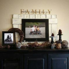 Love this picture frame idea - perfect for the dining room wall!