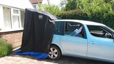 Skoda Roomster RV Mini Camper with a PackaShack Hatch Tailgate Tent