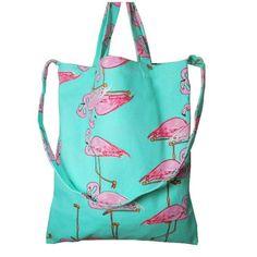 Flamingo Canvas Shopping Tote