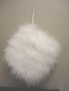 Vintage Swan Feather White Muff  Wedding Bridal