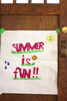 15 Fun and Simple Summer Activities for Kids.  This actually makes me ok with today being the last day of school!