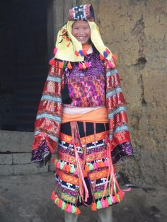Lo Lo hill tribe lady a Lung Cu, the most northern point  of NE Vietnam backing onto the China border. Lung Cu is 7 hours drive east of Ha Giang
