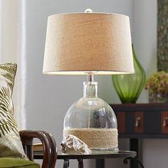 Rope & Glass Lamp